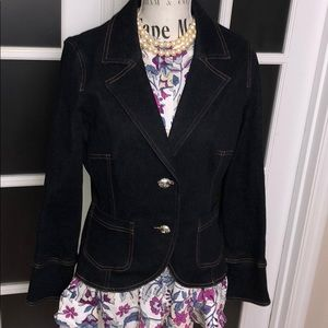 Nicole Miller Fitted Bling Jean Blazer Size 10